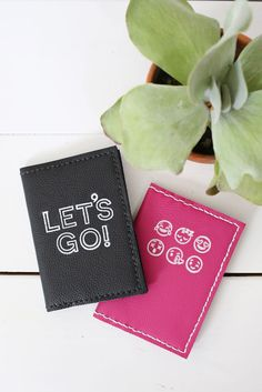 These Stamped Leather Passport Holder look so nice