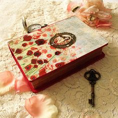Box imitation book  Poppies in the Sky by Minasmoke on Etsy, $30.70