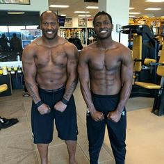 Steelers eye candy! That's yummy James Harrison and Antonio Brown!