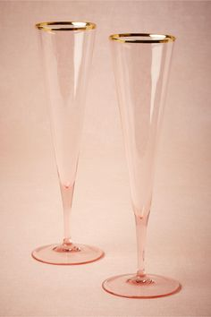 Rosy-Cheeked Flutes (2) from BHLDN