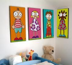 illustrator from Nantes Painting For Kids, Painting & Drawing, Art For Kids, Diy Canvas, Canvas Wall Art, Kids Room Paint, Illustrator, Cute Drawings, Diy Art