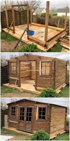 This is a fascinating piece of the pallet house outlook impact that is being carried out with the gorgeous finishing of the wooden pallet. You wi… – do pallet Wooden Pallet Projects, Diy Pallet Furniture, Wooden Pallets, Pallet Crafts, Diy Projects With Pallets, Furniture Projects, Pallet House Plans, Pallet Shed, Garden Pallet