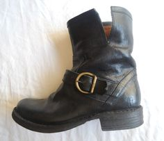 ~ FIORENTINI + BAKER BLACK LEATHER BUCKLE ELI ANKLE BOOTS / BOOTIES (LOVE!) 36 #FiorentiniBaker #BOOTS