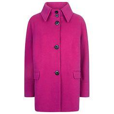 Buy Windsmoor Wool Collar Coat, Fuchsia Online at johnlewis.com