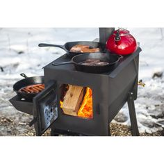 Portable Wood Stove, Tiny Wood Stove, Portable Grill, Camping Stove, Camping Gear, Tent Stove, Backpacking Tent, Camping Glamping, Stoves Cookers