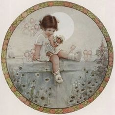 size: Giclee Print: There are Fairies by Mabel Lucie Attwell Art Print : Entertainment Drawing For Kids, Art For Kids, Vintage Prints, Vintage Art, Deco Retro, Decoupage Vintage, Cool Posters, Vintage Children, Faeries