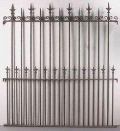 3 panels antique wrought iron fence.