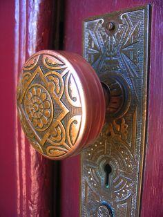 vintage door handles.