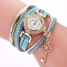 >> Click to Buy << Fashion Women watch Fine Leather Bracelet lady girl wrist watch Winding Analog Quartz Watch clock relogios feminino #Affiliate