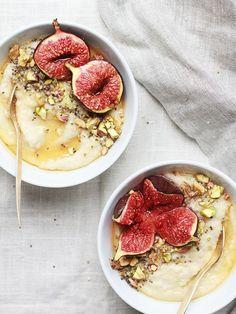 Porridge au miel et à la figue