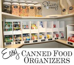 Make boxes for storage of canned food