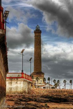 El Faro de Chipiona is a homing beacon that is located in the Punta del Perro de Chipiona, CADIZ, SPAIN lighthouse first order, is the highest in Spain, third in Europe and fifth in the world, measuring 62 m on the ground.