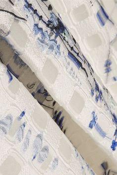 Lela Rose - Fil Coupé Jacquard Midi Skirt - White