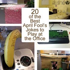 20 of the Best April Fool's Jokes to Play at the Office Easy April Fools Pranks, April Fools Pranks For Adults, Best April Fools, Easy Pranks, Simple Pranks, Pranks For Coworkers, Pranks For Kids, Jokes For Kids, Coworker Pranks