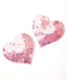 pink! ban.do heart shoe clips