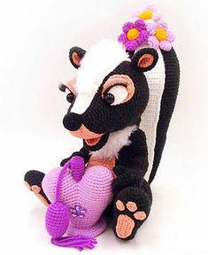 Skunk Crochet pattern, Skunk amigurumi Pattern, Amigurumi Skunk Crochet, Skunk crochet pattern, Skunk crochet, Skunk amigurumi, Skunk Crochet skunk, crochet Skunk Amigurumi, Skunk crochet toy, Skunk amigurumi doll,