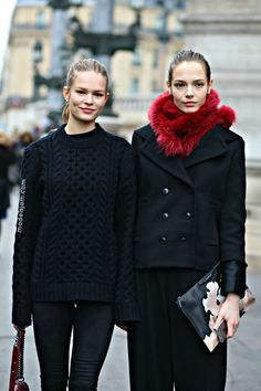 #AnnaEwers & #MinaCvetcovic throwing some stunning around #offduty in Paris.