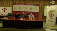 """Jaime Carrero, Víctor Núñez y Miguel Ángel González fueron los ponentes de la mesa redonda """"La cultura del vino"""" celebrada en la UCLM."""