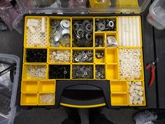 "What's in the Box? - Spacers & Washers   This bin is used for bolt spacers and washers.  We order our bolt spacers normally #10 and 1/4"" IDs with 1/2"" OD. http://ift.tt/2qsiIa9 We have 1/8"" 1/4"" 1/2"" and 1"" spacers.  We order most of our washers from zoro.com This also has some wave spring washers for taking up slack on shafts and replacing them in VPs. We order them from McMaster mostly.  - Spectrum  Whats in the Box"