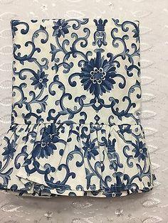 Ralph Lauren Porcelain Tamarind Rosette Ruffled King Pillowcases, One Pair British Colonial Bedroom, Tamarind, Pillowcases, Rosettes, Porcelain, Ralph Lauren, Pairs, King, Pillow Case Dresses