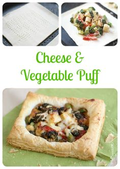 Another super easy recipe, full of lovely vegetables. Cheese & Vegetable Puffs