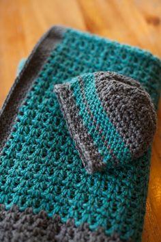 Free Pattern: Baby blanket & hat!