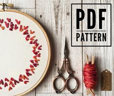 Super Embroidery For Beginners Pattern Products 66 Ideas Learn Embroidery, Machine Embroidery Applique, Modern Embroidery, Embroidery For Beginners, Embroidery Hoop Art, Hand Embroidery Patterns, Embroidery Techniques, Etsy Embroidery, Mug Rugs