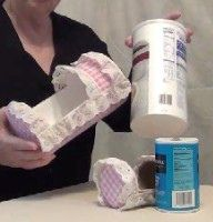 Video tutorial oatmeal box to doll cradle