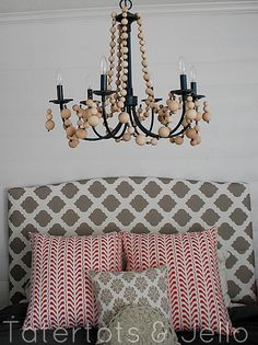 Beaded Chandelier - I would like to do this with the Wendy House Chandelier ... just using crystal beads!