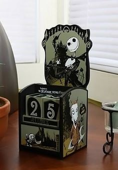 Nightmare Before Christmas Wooden Calendar