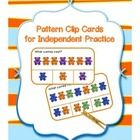 Free clip cards for independent practice with patterns.  Includes ab, abc, aabb, aabbcc, aab, and abb patterns made with colored counting bears.   ...