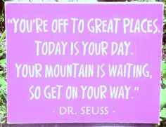 pink Dr. Seuss Signs baby Gifts Nursery Decor Graduation Baptism inspirational $23