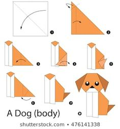 How Do You Make A Origami Dog how do you make a origami dog how to make a cute origami dog templates. how do you make a origami dog how to make an origami dog step step instructions free ideas. Chat Origami, Instruções Origami, Origami Simple, Easy Origami For Kids, Origami Bookmark, How To Make Origami, Paper Crafts Origami, Useful Origami, Origami Stars