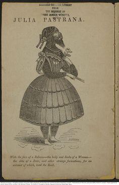 Cuenta de la señorita Pastrana, el indescriptible; y el Niño de doble cuerpo , [alrededor de 1860].   Thr 02/01/1229  Houghton Library de la Universidad de Harvard