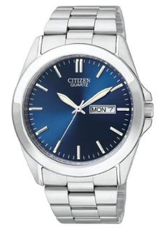 Citizen Quartz Day Date Blue Dial Mens Watch - BF0580-57L