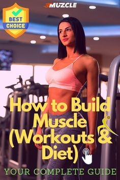 The Woman's Complete Guide To Muscle Building. Check It Out! #buildmuscle #woman Muscle Building Women, Build Muscle Mass, Muscle Building Workouts, Gain Muscle, How To Build Muscles, How To Get Abs, Female Muscle Growth, Athlete Nutrition, Resistance Workout