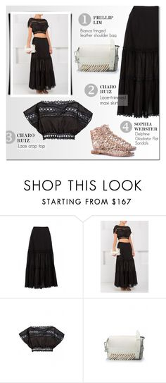 """""""Boho Look"""" by firstboutique ❤ liked on Polyvore featuring 3.1 Phillip Lim, Sophia Webster, black and boho"""