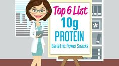 Picking the right food to snack on is important. Opt for power snacks that are bariatric friendly and with ten grams protein plus.