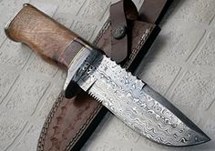 REG 16 C-FR Handmade Damascus Steel 11.00 Inches Bowie Knife - Exotic Wood Handle *** Check out this great product.