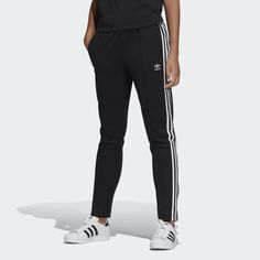 newest 75aec d594d SST Track Pants Black CE2400 Adidas Jogging Pants, Soccer Pants, Chill  Style, Adidas