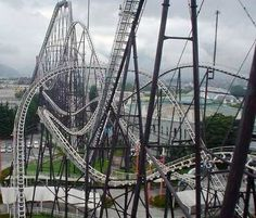 A roller coaster symbolizing the ups and downs of his relationship between his friends  throughout the novel