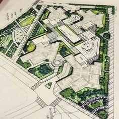 Landscape Gardening Online Planner is part of Masterplan architecture - Landscape Architecture Drawing, Landscape Design Plans, Landscape Concept, Landscape Bricks, Landscape Architects, Landscape Edging, Abstract Landscape, Masterplan Architecture, Architecture Plan