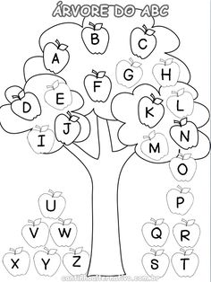 With fall right around the corner, I have been having fun practicing letter recognition with my preschooler. I whipped up this ABC Matching Tree activity, and it was a huge hit. Apple Tree Drawing, Prewriting Skills, Kindergarten Assessment, Wreck This Journal, School Daze, Pre Writing, Letter Recognition, Autumn Activities, Preschool