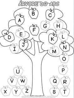 Atividade da Árvore do ABC Para Trabalhar a Letras Maiúsculas e Minúsculas - Blog Cantinho Alternativo