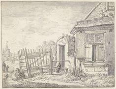 Gezicht te Utrecht op de stadswal bij de Wittevrouwenpoort, Herman Saftleven, 1619 - 1685