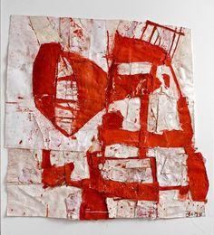 Sati Zech, Lamp, 2009, 101.6 x 96.5 cm Techniques mixtes sur papier
