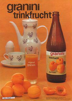 1968 | Saftgenuss aus der Flasche – granini Trinkfrucht wird jetzt nicht mehr in Dosen, sondern in Glasflaschen abgefüllt. Die bekannte bauchige Flasche mit den Dellen kommt allerdings erst ein Jahr später!