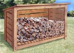 Image result for wooden firewood storage box