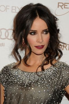 Abigail spencer loosely curled and pinned hair - ideal for a romantically styled wedding