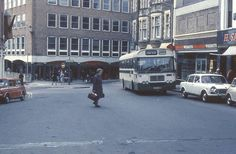 Jones Bus in Guildhall Square, Carmarthen Welsh, My Childhood, Old Photos, Street View, Memories, Places, Old Pictures, Welsh Language, Vintage Photos